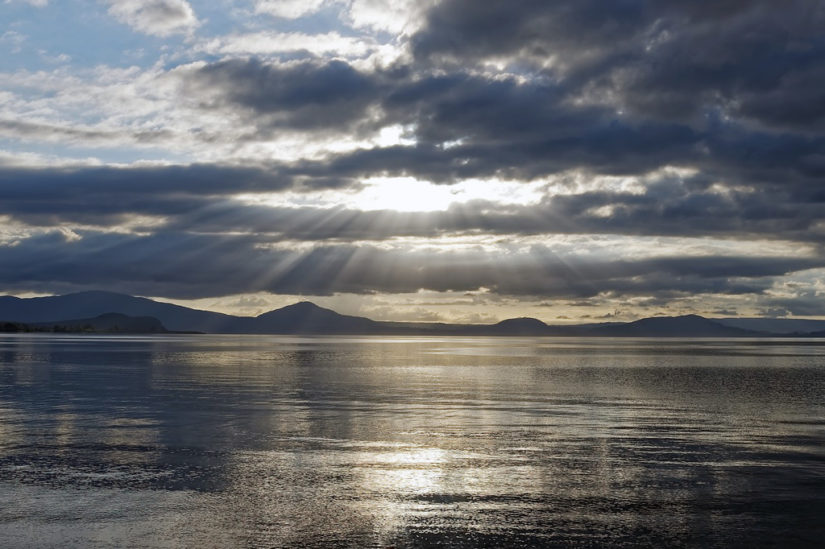 Taupo, el inmenso lago