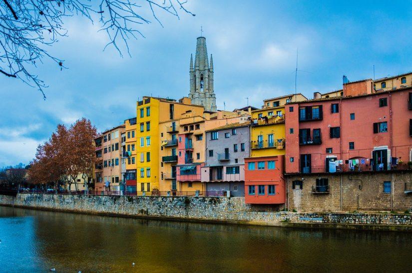 Casas de colores del río Onyar