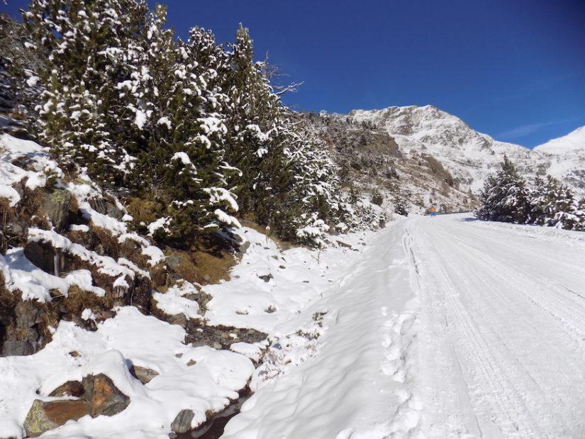 Subida a la estación de Esquí